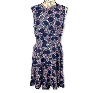 Maison Jules Floral Print Fit and Flare Dress